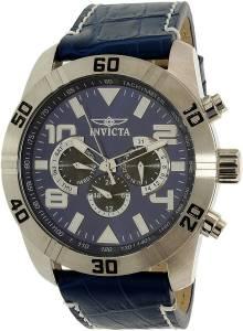 [インヴィクタ]Invicta  Pro Diver Blue Leather Swiss Chronograph Watch 21475 メンズ
