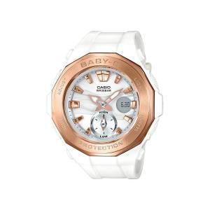 [カシオ]Casio 腕時計 GShock BGA220G7A Wht/Gold Bronze Bezel White Gold / One Size BGA220G-7A