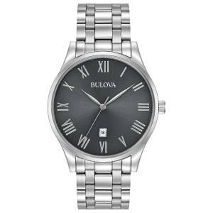 [ブローバ]Bulova  Quartz Stainless Steel Dress Watch, Color:SilverToned 96B261 メンズ