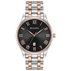 [ブローバ]Bulova 腕時計 Quartz Stainless Steel Dress Watch, Color:Two Tone 98B279 メンズ