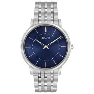 [ブローバ]Bulova  Quartz Stainless Steel Dress Watch, Color:SilverToned 96A188 メンズ