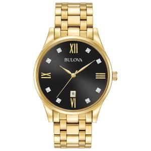 [ブローバ]Bulova 腕時計 Quartz Stainless Steel Dress Watch, Color:GoldToned 97D108 メンズ
