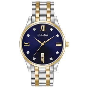 [ブローバ]Bulova 腕時計 Quartz Stainless Steel Dress Watch, Color:Two Tone 98D130 メンズ
