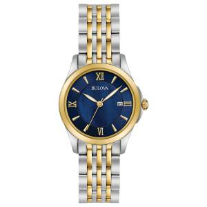 [ブローバ]Bulova  Quartz Stainless Steel Dress Watch, Color:Two Tone 98M124 レディース