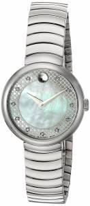 [モバード]Movado  Swiss Quartz Stainless Steel Casual Watch, Color:SilverToned 0607044