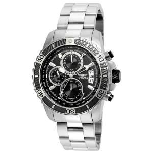 [インヴィクタ]Invicta  Pro Diver Steel Bracelet & Case Quartz Black Dial Analog Watch 22412