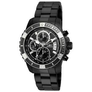 [インヴィクタ]Invicta  Pro Diver Black Steel Bracelet & Case Quartz Analog Watch 22417
