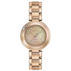 [シチズン]Citizen 腕時計 EcoDrive L CARINA Rose GoldTone 6Diamond Watch EM0463-51Y