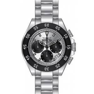 [インヴィクタ]Invicta  Speedway Chronograph Silver Dial Stainless Steel Bracelet Watch 22392