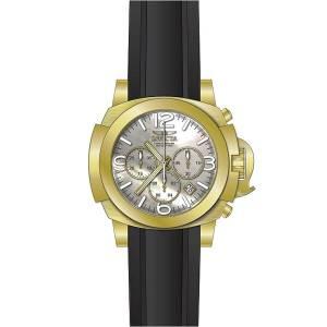 [インヴィクタ]Invicta IForce Chronograph White MOP Dial Black Silicone Strap Dive Watch 22278