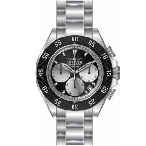 [インヴィクタ]Invicta Speedway Chronograph Quartz Black & Silver Dial Steel Bracelet 22396