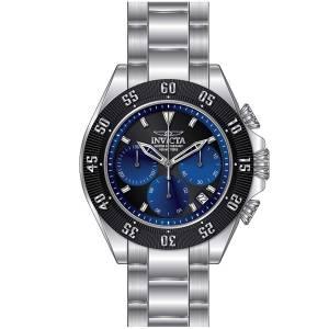 [インヴィクタ]Invicta Speedway Chronograph Quartz Black & Blue Dial Steel Bracelet Watch 22397