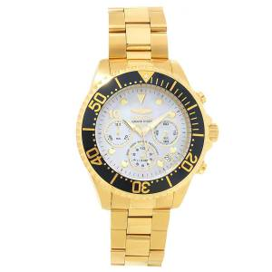 [インヴィクタ]Invicta Grand Diver MOP Dial Yellow Gold Plated Steel Bracelet Chronograph 22040