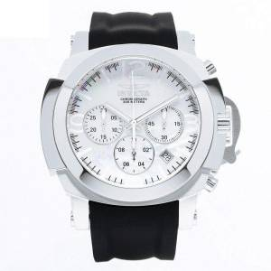 [インヴィクタ]Invicta IForce White MOP Dial Black Silicone Strap Chronograph Dive Watch 22275