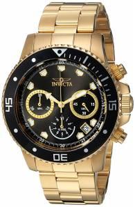 [インヴィクタ]Invicta 'Pro Diver' Quartz Stainless Steel Diving Watch, Color:GoldToned 21893