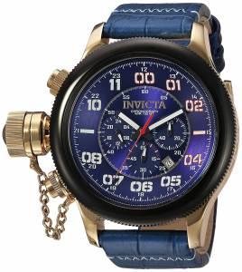 [インヴィクタ]Invicta 'Russian Diver' Quartz Stainless Steel and Leather Casual Watch, 22292