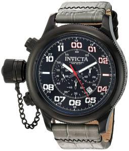 [インヴィクタ]Invicta 'Russian Diver' Quartz Stainless Steel and Leather Casual Watch, 22289