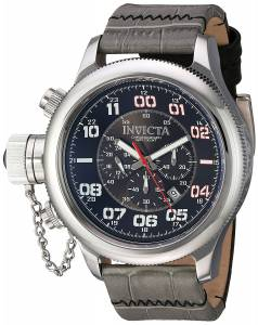 [インヴィクタ]Invicta 'Russian Diver' Quartz Stainless Steel and Leather Casual Watch, 22287