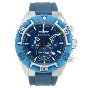 [インヴィクタ]Invicta  Aviator Blue Silicone Band Steel Case Quartz Analog Watch 22522