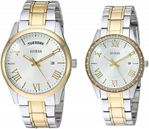 [ゲス]GUESS Boxed Set SilverTone & GoldTone Watches with Silver Dial and Stainless Steel U0925P1