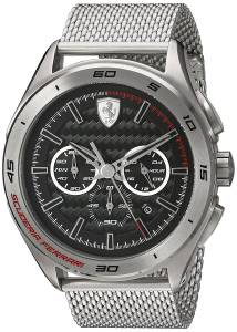 [フェラーリ]Ferrari  Analog Quartz Chonograph Silver Stainless Steel Watch 830347 メンズ
