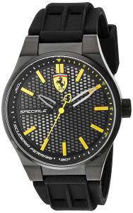 [フェラーリ]Ferrari Scuderia Quartz Stainless Steel and Silicone Casual Watch, 830354