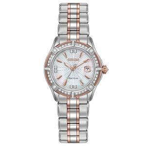 [シチズン]Citizen  Signature TwoTone Bracelet Band Silver Dial Watch EW2276-80D レディース
