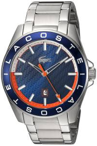 [ラコステ]Lacoste  'WESTPORT' Quartz Stainless Steel Casual Watch, Color:SilverToned 2010886