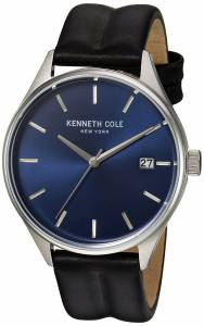 [ケネスコール]Kenneth Cole New York 'Classic' Quartz Stainless Steel and Leather 10030836