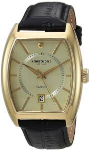 [ケネスコール]Kenneth Cole New York 'Diamond' Quartz Stainless Steel and Leather 10030818