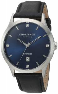 [ケネスコール]Kenneth Cole New York 'Diamond' Quartz Stainless Steel and Leather 10030784