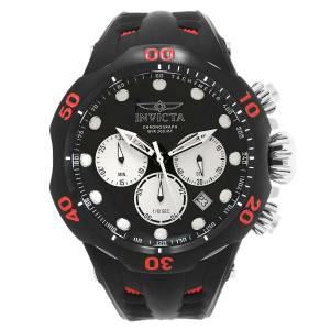 [インヴィクタ]Invicta Venom Red Silicone Band Titanium Case Swiss Quartz Black Dial 22349