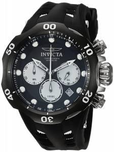 インヴィクタ Invicta Men's Venom White Silicone Band Titanium Case Swiss Quartz Black 22351