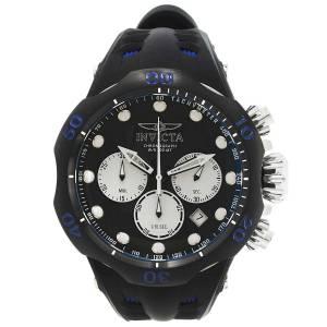 [インヴィクタ]Invicta Venom Blue Silicone Band Titanium Case Swiss Quartz Black Dial 22350