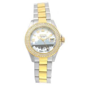 [インヴィクタ]Invicta Angel New York White MOP Dial Two Tone Steel Bracelet Dive Watch 90289