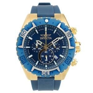 [インヴィクタ]Invicta  Aviator Blue Silicone Band Steel Case Quartz Analog Watch 22525