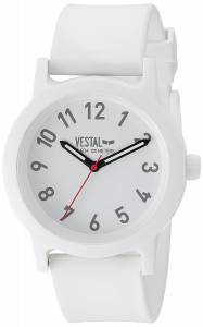 [ベスタル]Vestal 腕時計 'Alpha Bravo' Quartz Plastic Casual Watch, Color:White ALP3P05