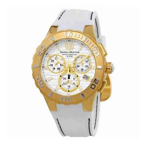 [テクノマリーン]TechnoMarine  Cruise Medusa Chronograph White Dial Watch 115077 TM-115077