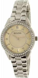 [ブローバ]Bulova 腕時計 Silver StainlessSteel Quartz Watch 96L220 レディース