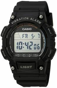 [カシオ]Casio  'Super Illuminator' Quartz Resin Casual Watch, Color:Black W-736H-1AVCF メンズ