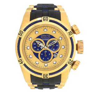 [インヴィクタ]Invicta 腕時計 Bolt Chronograph Gold and Blue Dial Watch 19731 メンズ
