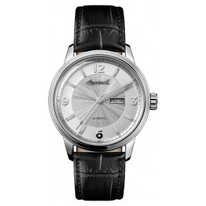[インガソール]Ingersoll Automatic Stainless Steel and Leather Casual Watch, Color:Black I00202