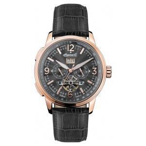 [インガソール]Ingersoll Automatic Stainless Steel and Leather Casual Watch, Color:Black I00302