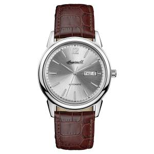 [インガソール]Ingersoll Automatic Stainless Steel and Leather Casual Watch, Color:Brown I00501