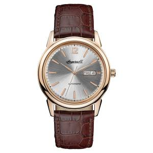 [インガソール]Ingersoll Automatic Stainless Steel and Leather Casual Watch, Color:Brown I00503