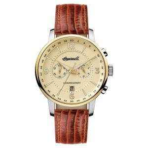 [インガソール]Ingersoll  Quartz Stainless Steel and Leather Casual Watch, Color:Brown I00603