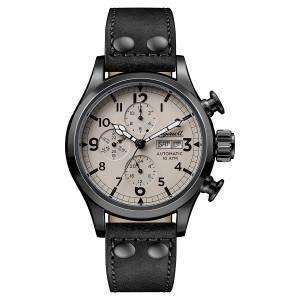 [インガソール]Ingersoll Automatic Stainless Steel and Leather Casual Watch, Color:Black I02202