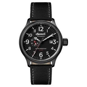 [インガソール]Ingersoll Automatic Stainless Steel and Nylon Casual Watch, Color:Black I02801