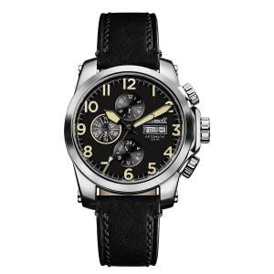 [インガソール]Ingersoll Automatic Stainless Steel and Leather Casual Watch, Color:Black I03101