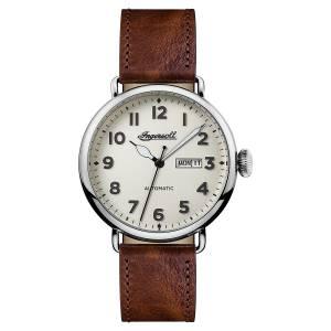 [インガソール]Ingersoll Automatic Stainless Steel and Leather Casual Watch, Color:Brown I03402